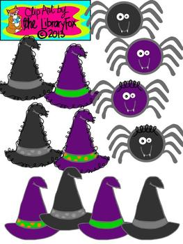 Halloween Clip Art with blacklines for Personal or Commercial Use