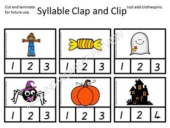 Halloween Clip Cards