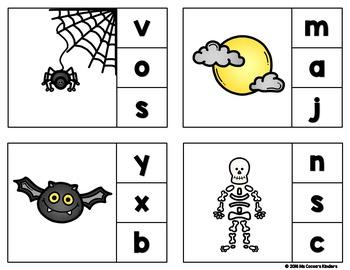Halloween Clip Cards - Beginning Sounds