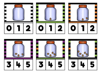Halloween Clip Cards: Counting & Picture Addition