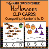 Halloween Clip Cards for Composing Numbers