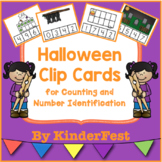 Halloween Clip Cards for Counting and Number Identification