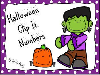Halloween Clip It Numbers