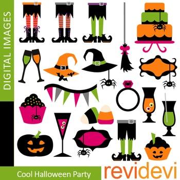 Halloween Clip art, Cool Halloween Party, teacher resource clipart 08103