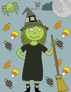 Halloween Clipart #1 – Spiders, Ghosts, & a Witch...Oh My! – Commercial-Use