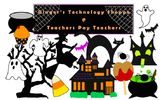 Halloween Clipart * Ghost * Witch * Cauldron * Haunted House & more!!!