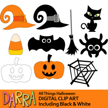 Halloween Clipart All Things Halloween Clip Art By Darrakadisha
