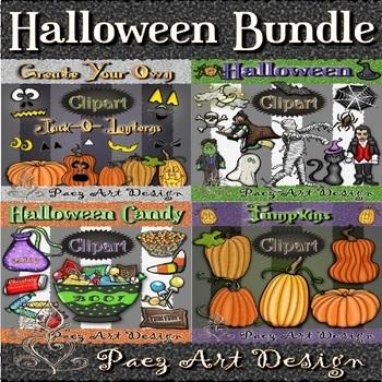 Halloween Clipart BUNDLE {Paez Art Design}