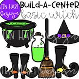 Halloween Clipart - Basic Witch- Build-a-Center {Jen Hart Clip Art}