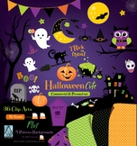 Halloween Clipart Boo halloween costume halloween party cliaprts trick or treat