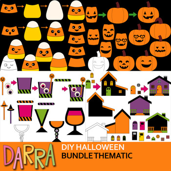 Halloween Clipart Bundle for DIY craftivity