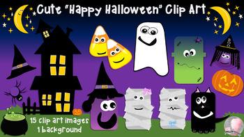 Halloween Clipart Clip Art Images - 15 Color Images - 300dpi