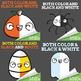 Halloween Clipart Facial Expressions Bundle