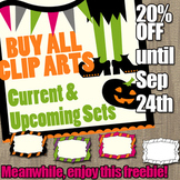 Halloween Clipart Free Sampler (Buy all commercial use CLI