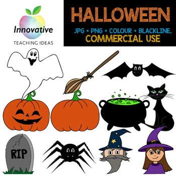 Free Halloween Clipart Commercial Use Blackline Color Png Jpeg