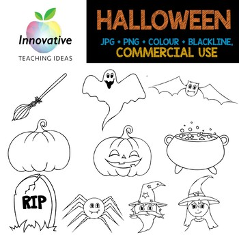 Halloween Clipart (Full Commercial Use)