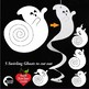 Halloween Clipart, Ghosts Clipart, Swirling Ghost Printable, AMB-2259