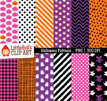 Halloween Clipart Halloween Pattern Digital Papers - Backgrounds