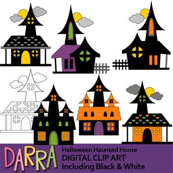 Halloween Clipart / Haunted House clip art by DarraKadisha ...