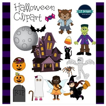 Halloween Clipart {L.E. Designs}