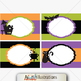 Halloween Clipart Mega Set - Papers , cliparts , frames , backgrounds