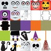 Halloween Clipart Mega Set - Papers , cliparts , frames ,