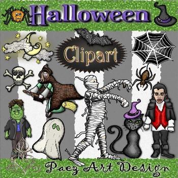 Halloween Clipart {Paez Art Design}