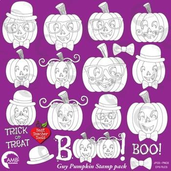 Halloween Clipart, Pumpkin Clip Art, Boy Halloween Pumpkins Stamps, AMB-2467