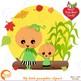 Halloween Clipart, Pumpkin Clipart, Little Kid Pumpkins Clip Art, AMB-2261