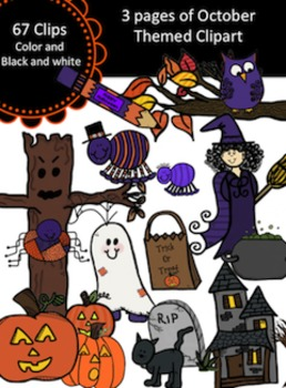 Halloween and October Clipart Set