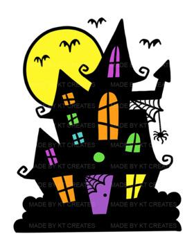 Halloween Clipart Set 30 Full Color Bw Illustrations Kt Creates