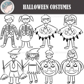 Halloween Costumes Clipart
