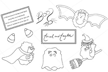 Halloween Clipart Set - Witch - Superhero - candy corn - Tinsel and Taylor