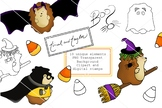 Halloween Clipart Set - Witch - Superhero - candy corn - T