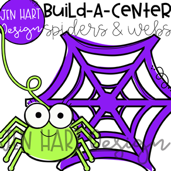 Halloween Clipart - Spiders and Webs- Build-a-Center {Jen Hart Clip Art}