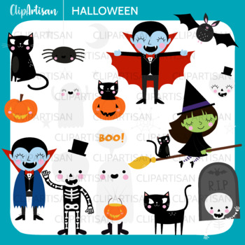 Halloween Clipart | Trick or Treat Clip Art | Halloween Printable