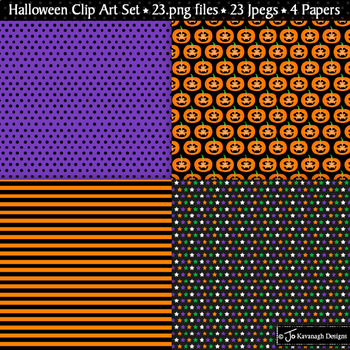 Halloween Clipart / Trick or Treat Theme / Witch / Pumpkin / Dracula (C29)