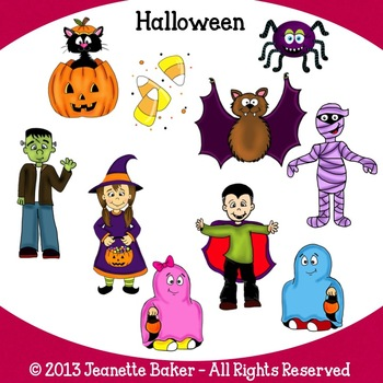 Halloween Clip Art by Jeanette Baker