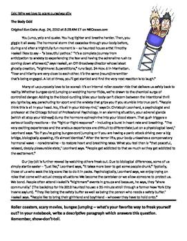 Halloween Close Read Passage