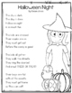 Halloween Close Read and Poem