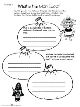 Halloween Close Reading 2nd and 3rd Grade