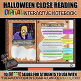 """Halloween Close Reading: Digital Interactive Activity  with """"The Raven"""""""