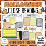 Halloween Close Reading Comprehension Passages & Activitie