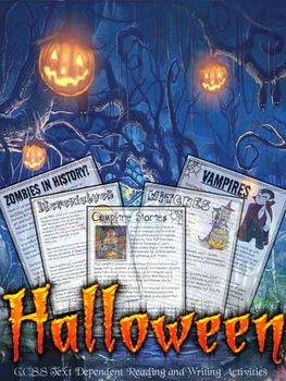 Halloween Close Reading & Writing Theme Unit