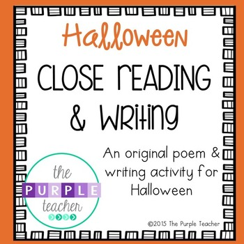 Halloween Close Reading and Writing Activity