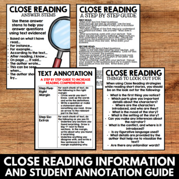 Close Reading: Halloween Classics - No Prep Activities and Resources