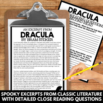 Close Reading: Halloween Classics