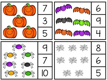 Halloween Clothespin Counting