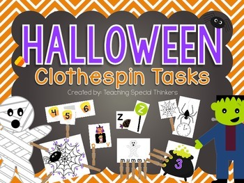 Halloween Clothespin Tasks