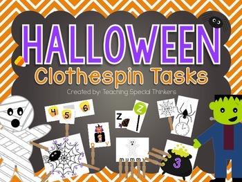 Halloween Clothespin Tasks